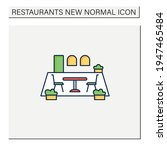patio dining color icon.... | Shutterstock .eps vector #1947465484