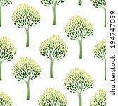 tree  watercolor  pattern | Shutterstock .eps vector #194747039