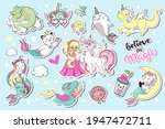 cute collection of summer...   Shutterstock .eps vector #1947472711