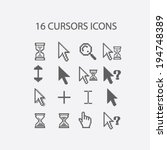 16 cursors  hand  search ... | Shutterstock .eps vector #194748389