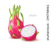 polygonal fruit   pitaya.... | Shutterstock .eps vector #194748461