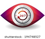watch 24 x 7   illustration | Shutterstock . vector #194748527