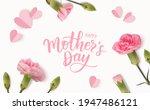 happy mothers day. calligraphic ... | Shutterstock .eps vector #1947486121