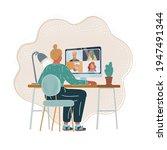 cartoon vector illustration of...   Shutterstock .eps vector #1947491344