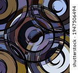 colored background image abstract ornament circles purple and brown