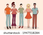 team group of multiethnic young ... | Shutterstock .eps vector #1947518284
