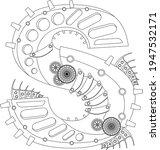 vector letter s coloring book.... | Shutterstock .eps vector #1947532171