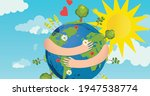 illustration of globe with arms ... | Shutterstock .eps vector #1947538774