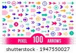 8 bit pixel arrows vector big...