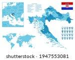 croatia detailed administrative ... | Shutterstock .eps vector #1947553081
