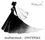 wedding dress | Shutterstock .eps vector #194759561
