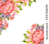 abstract flower background with ... | Shutterstock .eps vector #194763059