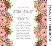 set of invitations with floral... | Shutterstock .eps vector #194764019