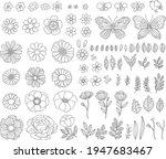 vector hand drawn spring design ... | Shutterstock .eps vector #1947683467