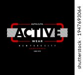 active wear  typography graphic ... | Shutterstock .eps vector #1947693064