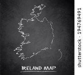 ireland map blackboard... | Shutterstock .eps vector #194769491