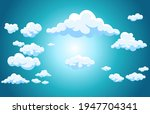 background white clouds on blue ... | Shutterstock .eps vector #1947704341