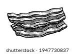 fried bacon. ink sketch of... | Shutterstock .eps vector #1947730837