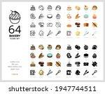 64 bakery icons set vector...   Shutterstock .eps vector #1947744511