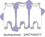 baby fashion clothing design.... | Shutterstock .eps vector #1947745477
