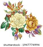 textile flower bunch beautiful...   Shutterstock .eps vector #1947774994