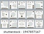 set of social media template... | Shutterstock .eps vector #1947857167
