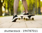 close up of a young skater girl'... | Shutterstock . vector #194787011