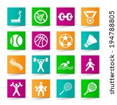 set of universal fitness icons... | Shutterstock .eps vector #194788805