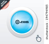 domain com sign icon. top level ...