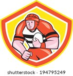 illustration of a rugby player... | Shutterstock .eps vector #194795249
