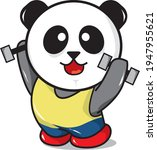 panda fitness  suitable for... | Shutterstock .eps vector #1947955621