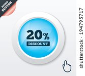 20 percent discount sign icon....