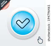 check sign icon. yes button.... | Shutterstock .eps vector #194796461