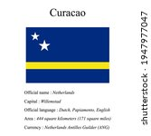 curacao national flag  country...   Shutterstock .eps vector #1947977047