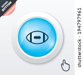american football sign icon....