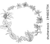 circular pattern  wreath of... | Shutterstock .eps vector #194803754