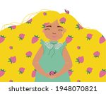 Summer Girl. Cute Girl With...