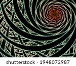 Abstract Fractal Image. Drawing ...