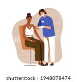 nurse vaccinating black skinned ... | Shutterstock .eps vector #1948078474