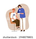nurse with syringe vaccinating... | Shutterstock .eps vector #1948078801