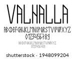 scandinavian script  in capital ...   Shutterstock .eps vector #1948099204