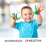 portrait of cute kid having fun ... | Shutterstock . vector #194810744