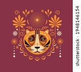tiger illustration and decor... | Shutterstock .eps vector #1948146154
