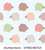 pattern with colored sheep.... | Shutterstock .eps vector #1948148764