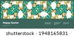 happy easter. flat vector... | Shutterstock .eps vector #1948165831