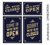vintage sign open and closed | Shutterstock .eps vector #194819054
