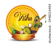 happy vishu greetings. april 14 ... | Shutterstock .eps vector #1948214404