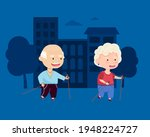 sports grandmother and... | Shutterstock .eps vector #1948224727