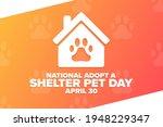 national adopt a shelter pet... | Shutterstock .eps vector #1948229347