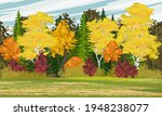 Autumn Forest. Mixed Forest...